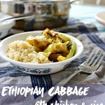 Ethiopian Cabbage with Chicken & Rice