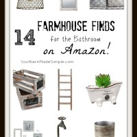 14 Farmhouse Bathroom Finds on Amazon!