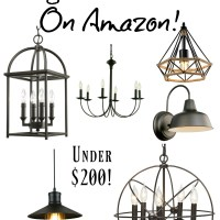 Farmhouse Light Fixtures under $200 {on Amazon!}