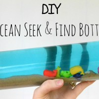 Toddler Road Trip Entertainment: DIY Ocean Seek & Find Bottle