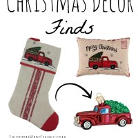 Old Red Pickup Truck Christmas Decor Finds