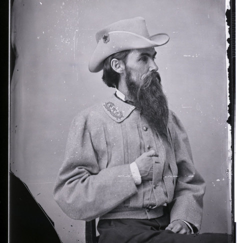 Studio portrait of General William Mahone (1826-1895), a noted Confederate officer during the American Civil War. (Photo by © CORBIS/Corbis via Getty Images)