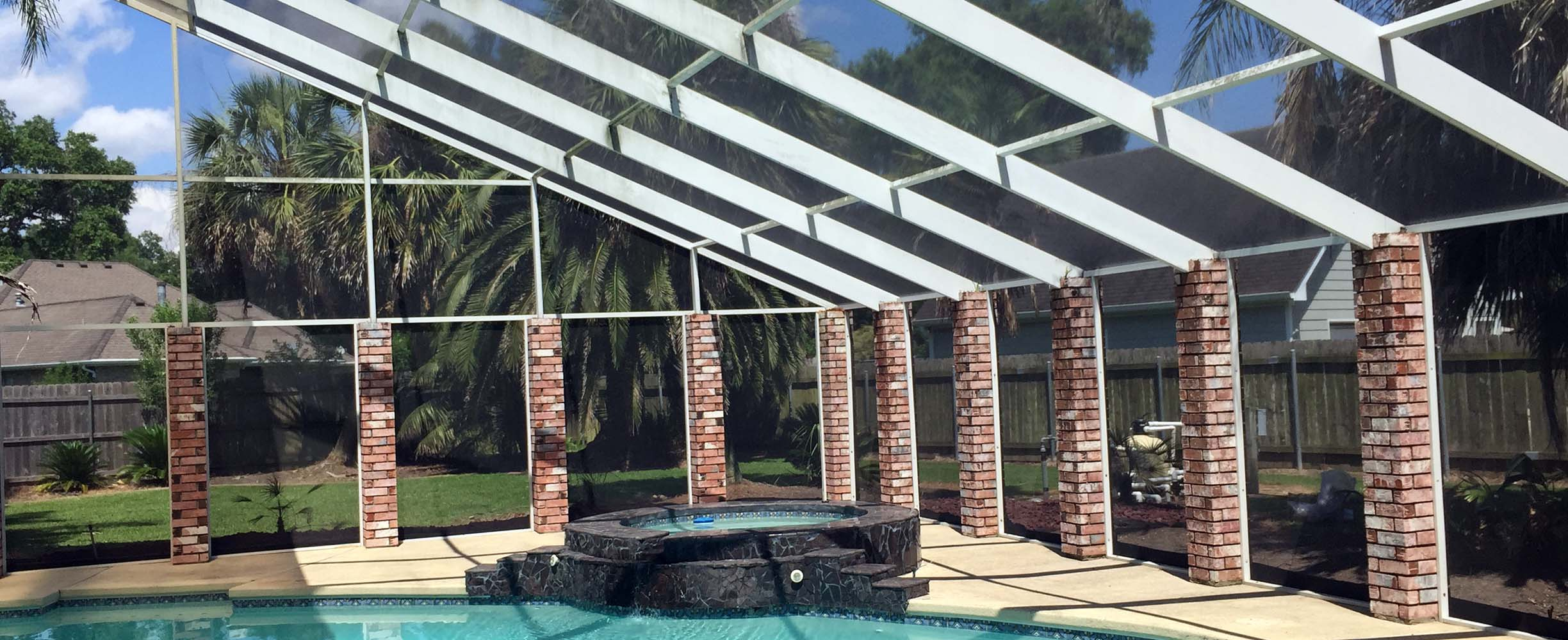 southern patio and screens pool