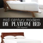 Mid Century Modern Diy Platform Bed Southern Revivals