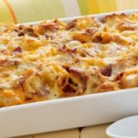 Easter Brunch Idea: Cheesy Bacon & Egg Casserole