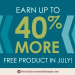 Be a Tastefully Simple Host in July