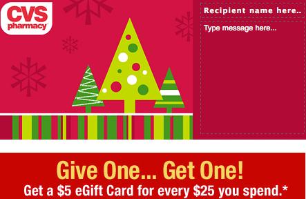 Cvs Gift Cards 5 Free Card Wyb 25 Southern Savers