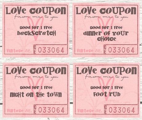 Free Printables Valentine Coupon Books Southern Savers