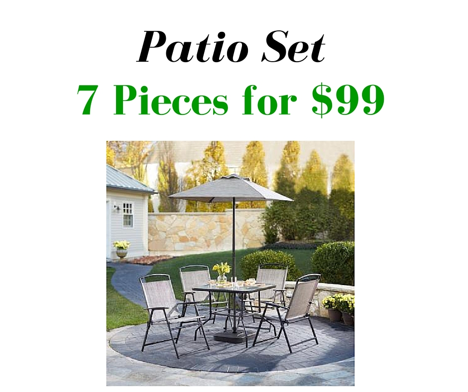 home depot 7 piece patio set for 99 southern savers