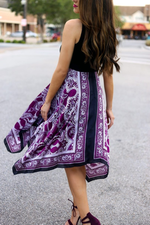 Gorgeous Scarf Print Dress