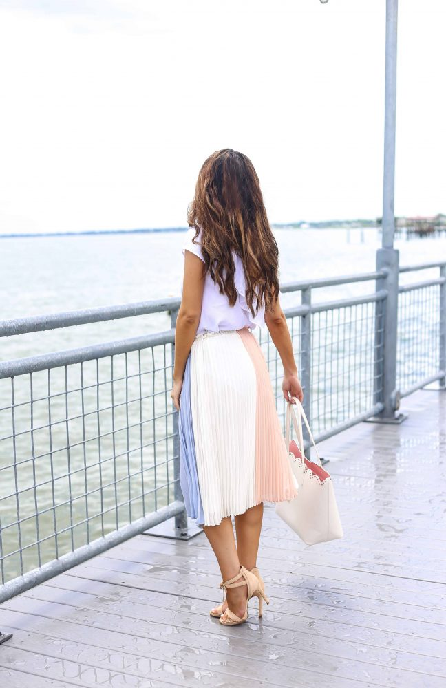The Best Colorblock Pleated Skirt