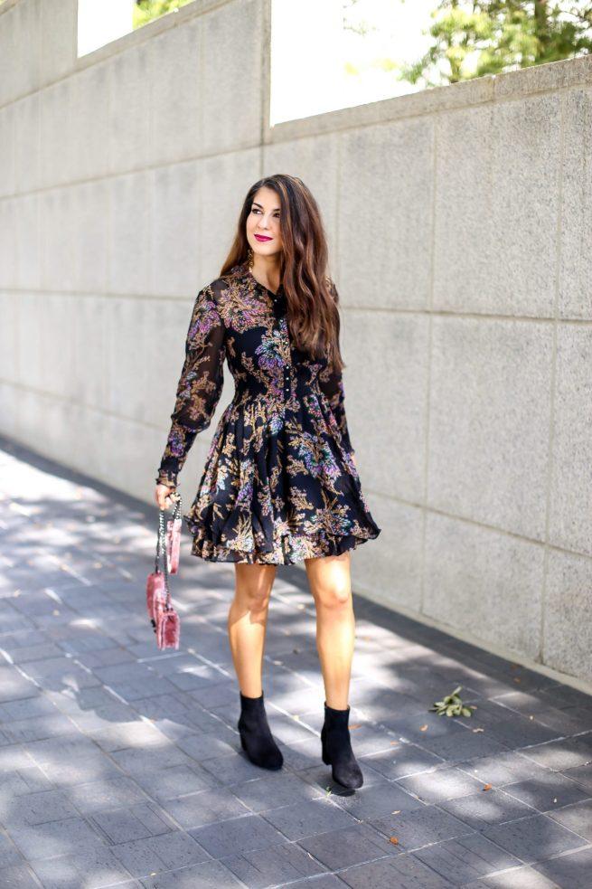 Fall Bohemian Boho Chic Dress