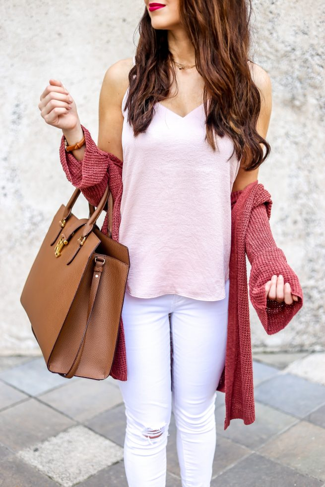Pink and Neutral Colors for Fall