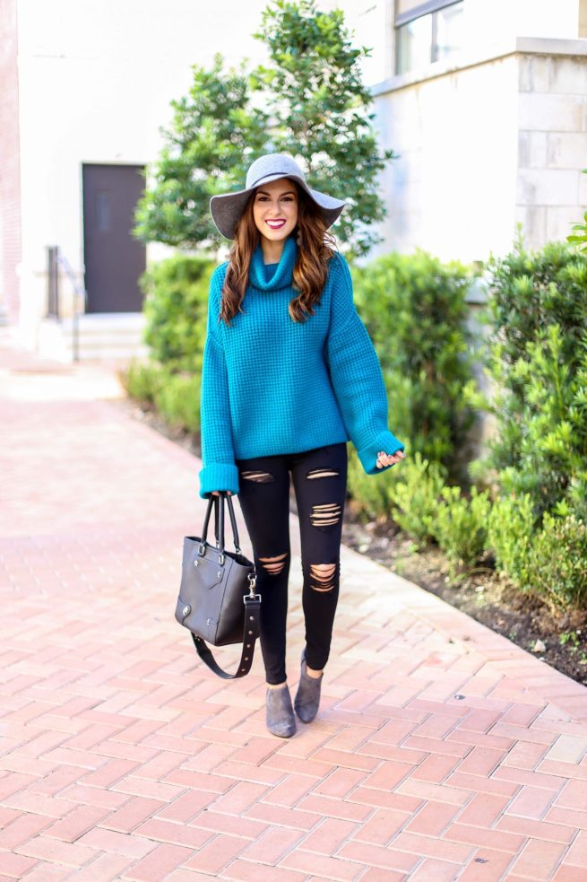 Fall Turquoise Sweater