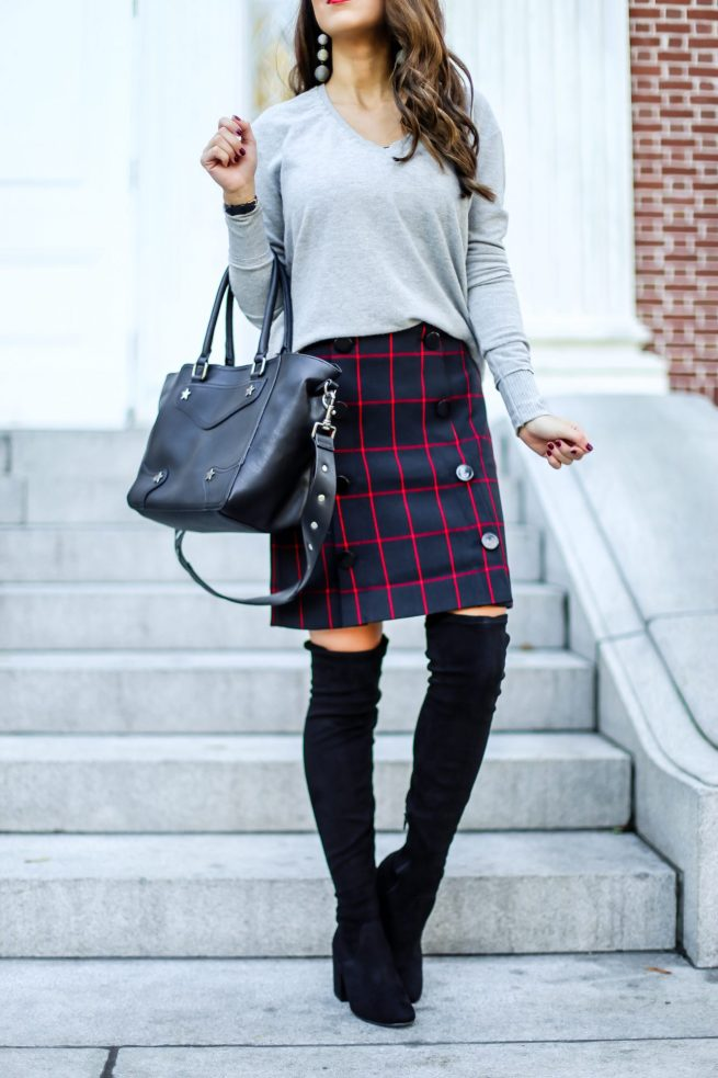 How To Dress Up Plaid Skirt in the Fall