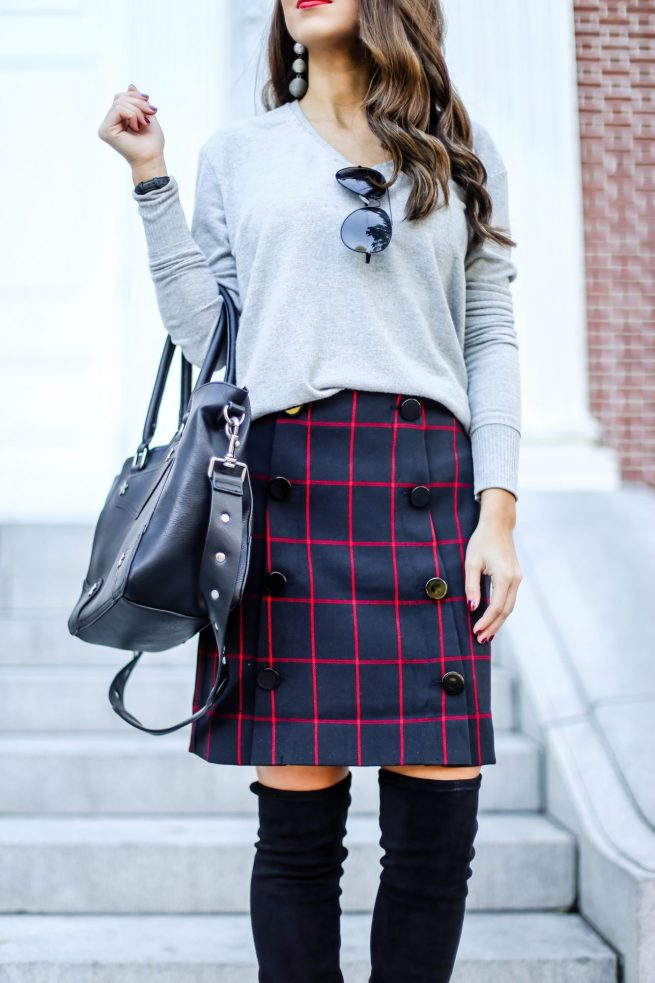 Plaid Skirt for Fall and Winter
