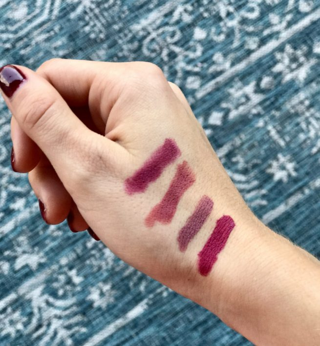 Fall Lipstick Swatches
