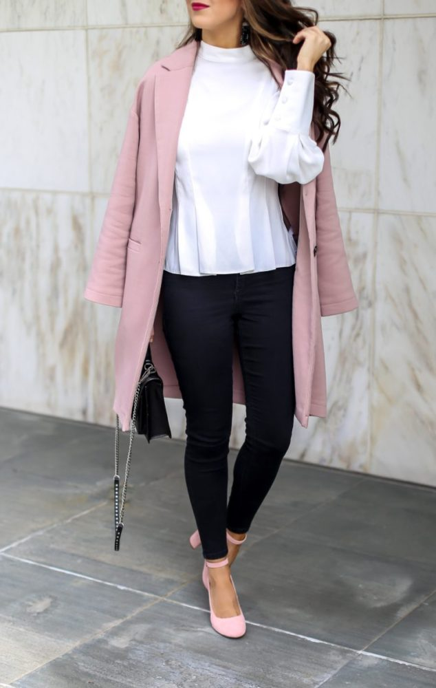 Beautiful Blouse and Pink Coat