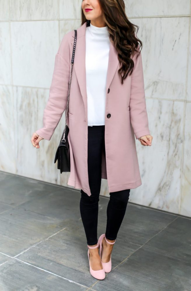How to Style a Classic Pink Coat