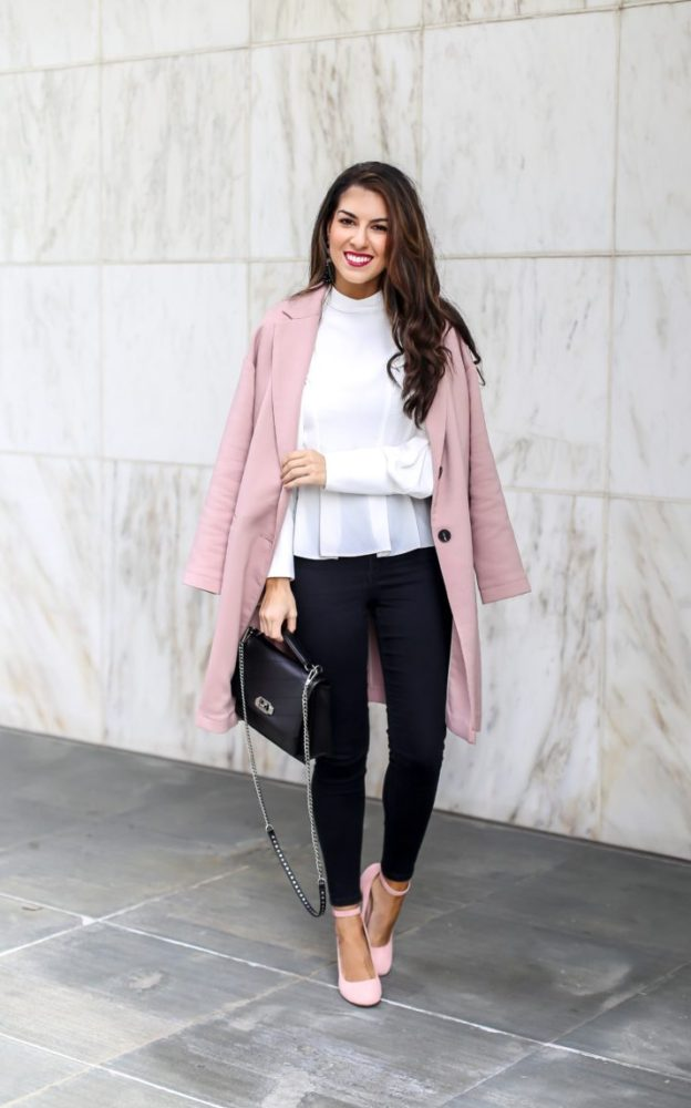 Styling a Pink Coat for the Office