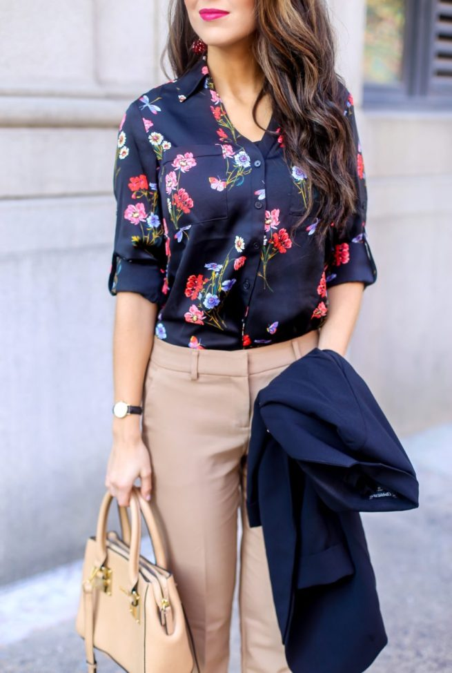 Floral Blouse for Work