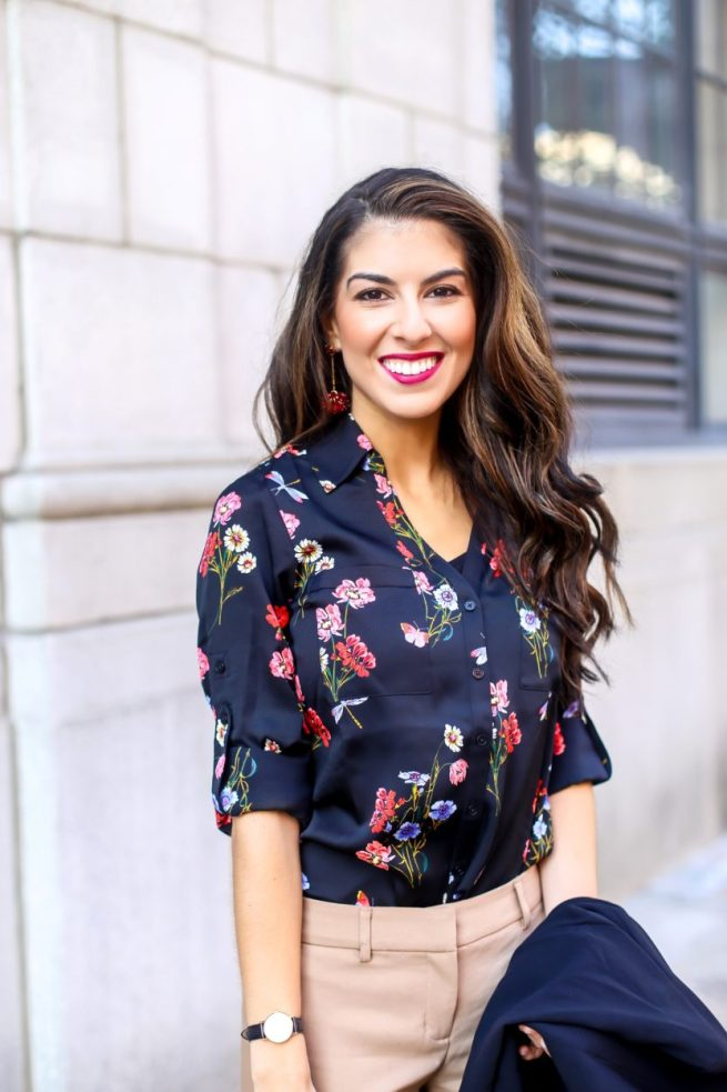 Floral Blouse for the Office