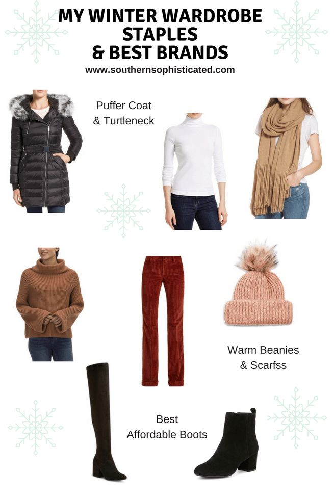 Winter Wardrobe Capsule. Winter Fashion Staples