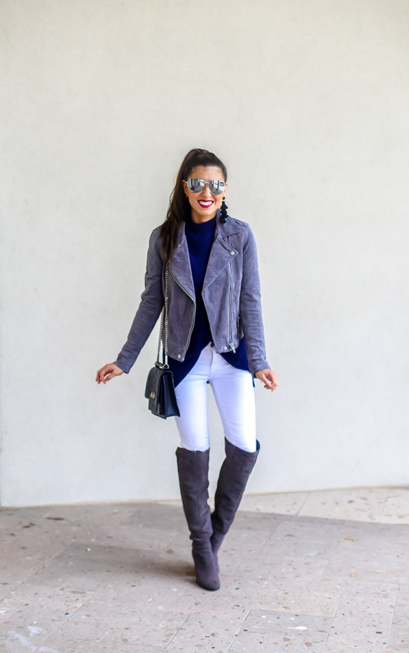Best Silver Suede Jacket for Winter