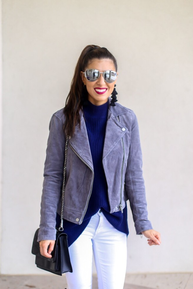 Classic Silver Suede Jacket