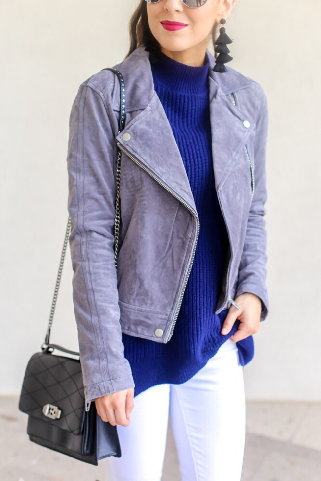 Jacket Layered with Turtleneck Sweater
