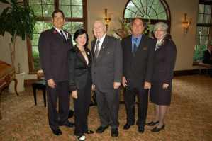 Major Albert Villafuerte, Gayle Benson, Tom Benson, Buck Murray and Mayor Yvette Villafuerte
