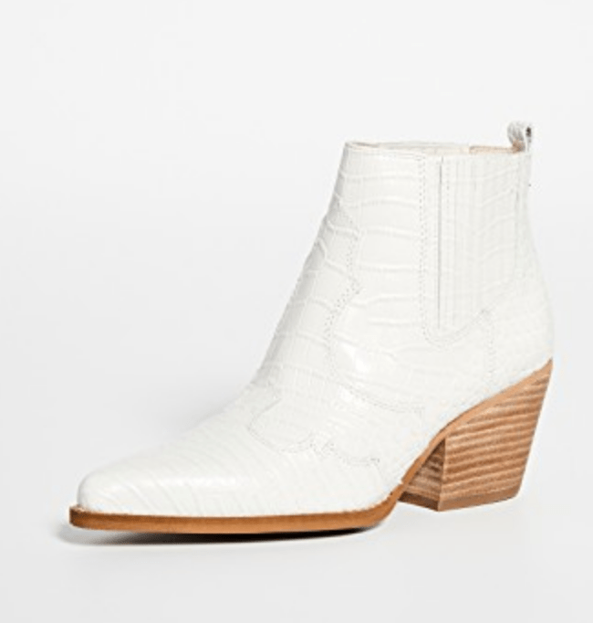 Sam Edelman white boots via ShopBop