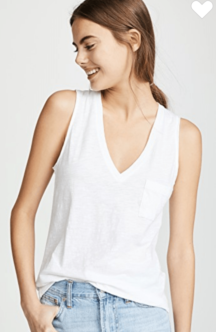 Madewell whisper tee via ShopBop