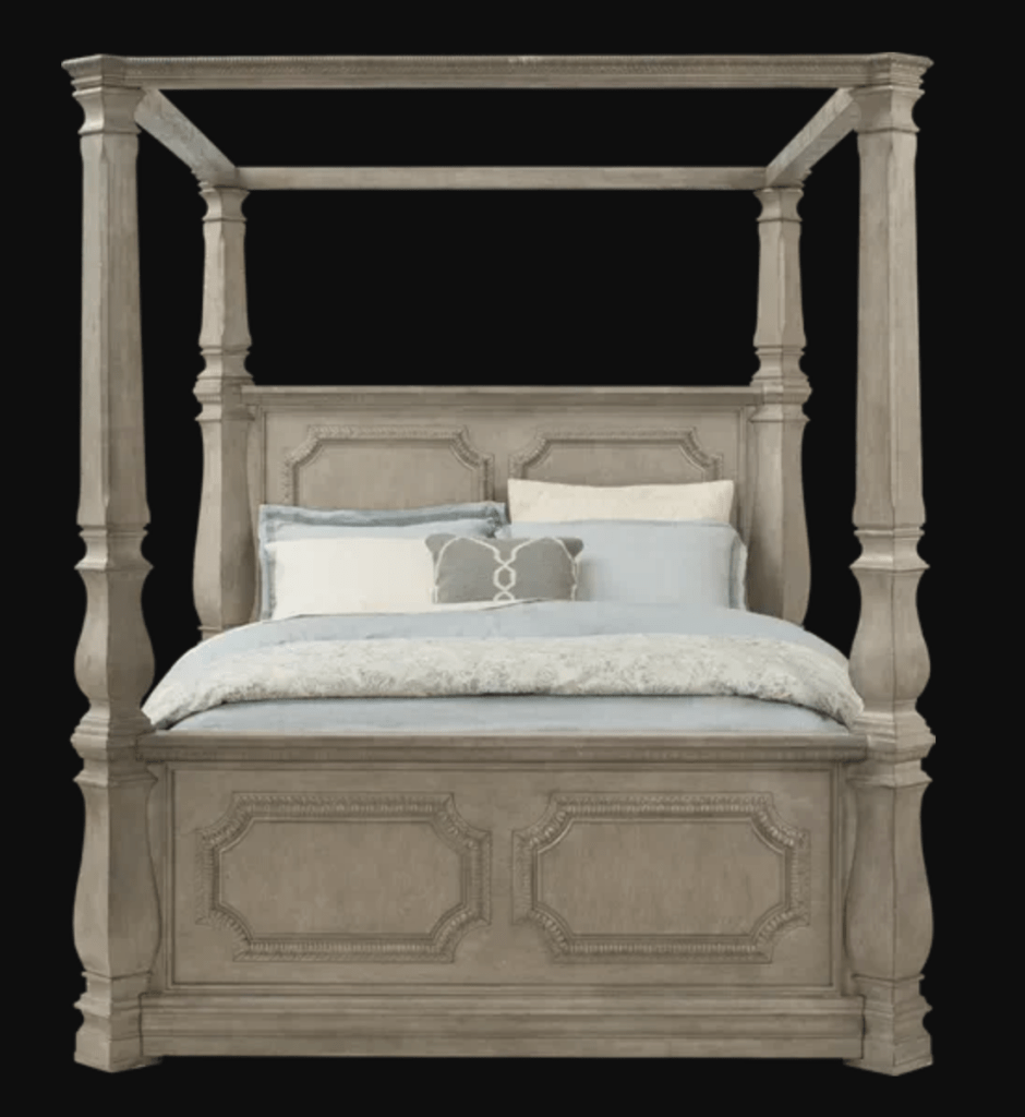 Rooms To Go four-poster bed