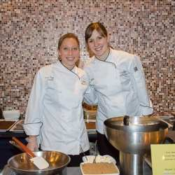 Denise Knapp and Maureen Beebe prepared the dessert course