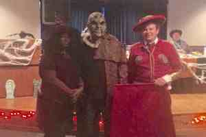 Pictured from left to right are the Crisp County Center winners of the Costume Contest: Ramona Williams, Witch, third place; Dontavious Hall, Jeeper's Creeper, first place; and Josh Cook, Matador, second place.