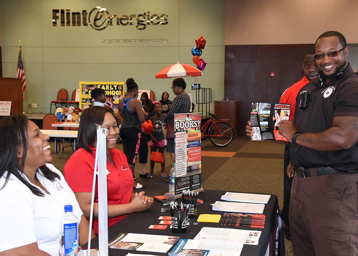Individuals were welcomed by the SGTC admissions office when they entered the Flint Energies Community room which was taken over for the Open House and filled with information about the different opportunities available at South Georgia Technical College.