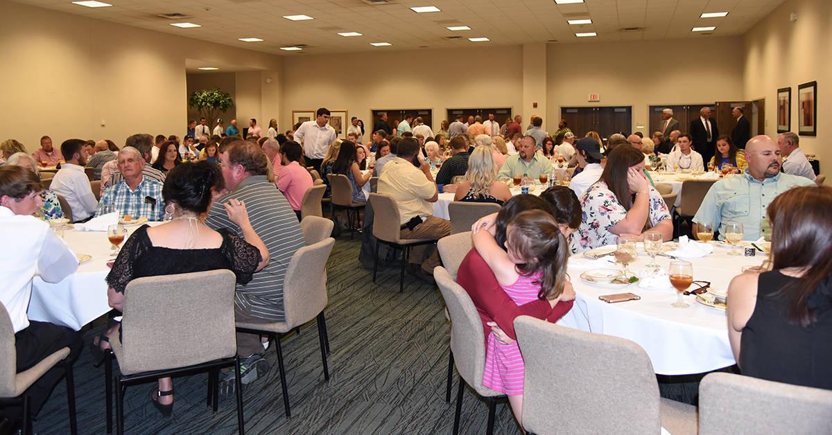 Over 220 individuals attended the Caterpillar Dealer's graduation dinner.
