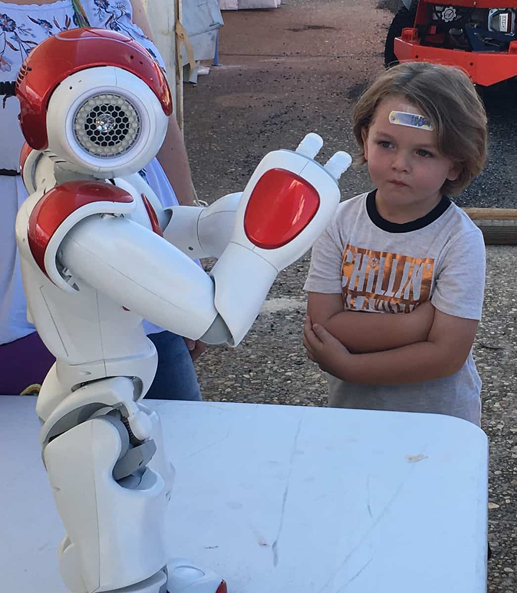 """ACE"" is the name of one of South Georgia Tech's Robots that is utilized to teach students about the great STEM occupations available at SGTC."