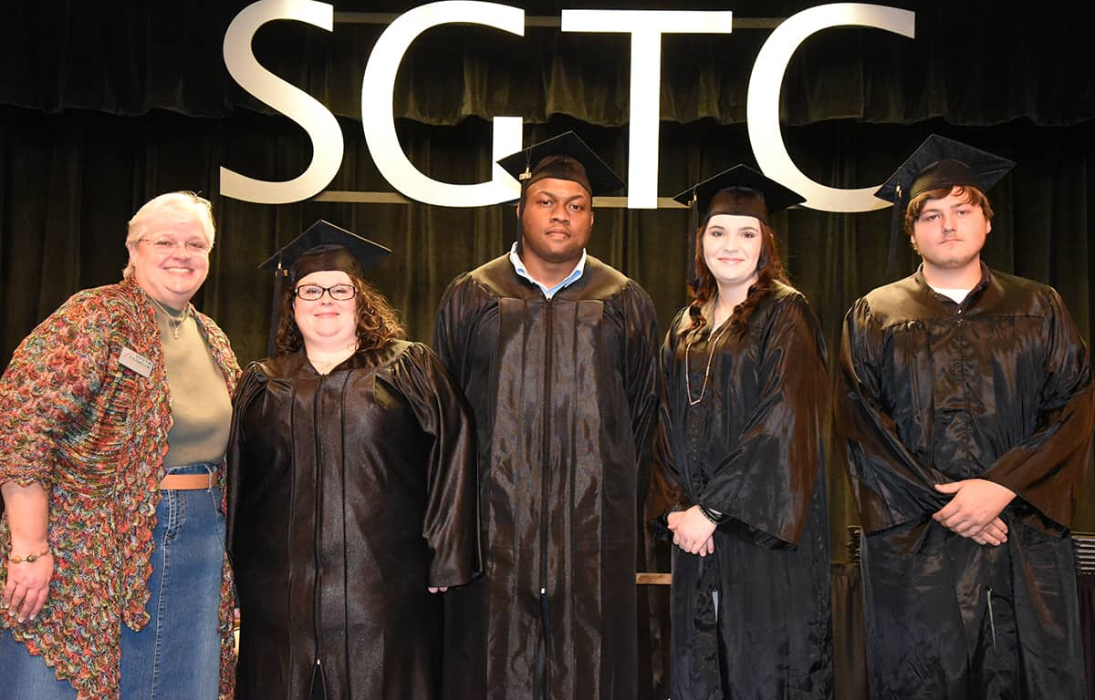 Shown above are the Crisp County South Georgia Technical College GED graduates and their instructor.