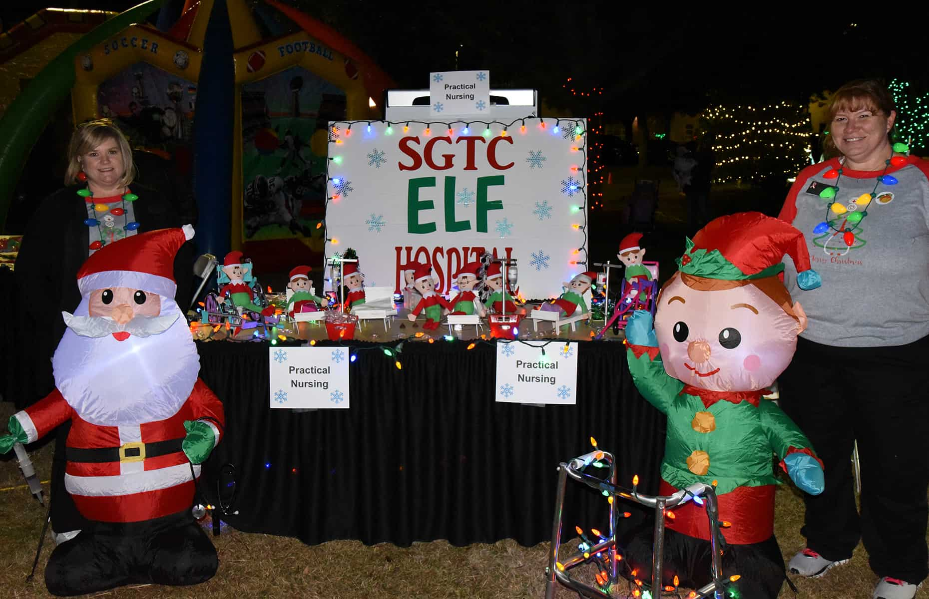 The Elf Hospital was set-up by the SGTC Practical Nursing department.