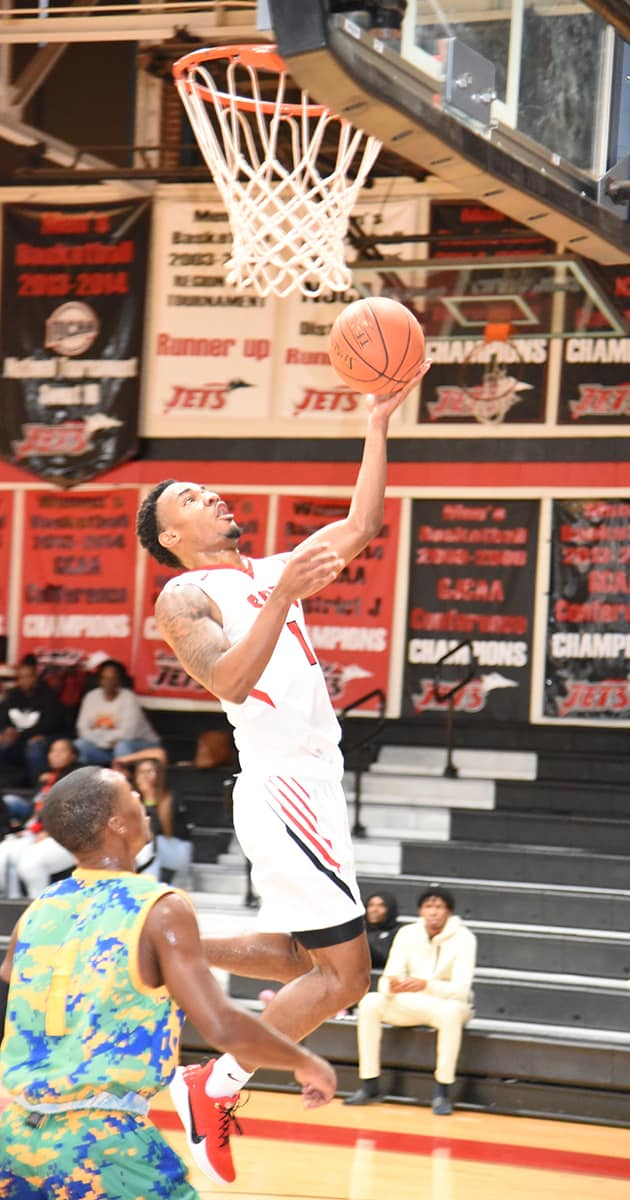 Lamont Sanders, 1, was the top scorer for the Jets with 19 points against Southern Crescent.