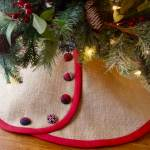 Linen Burlap Christmas Tree Skirts For 2020 South House Designs