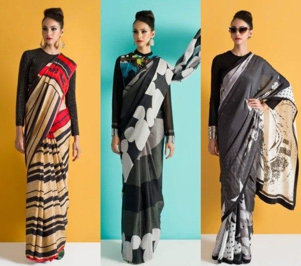 Image result for cartoon print sarees