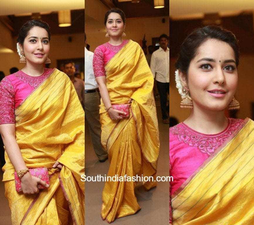 Raashi Khanna In Shravan Kumar Saree South India Fashion