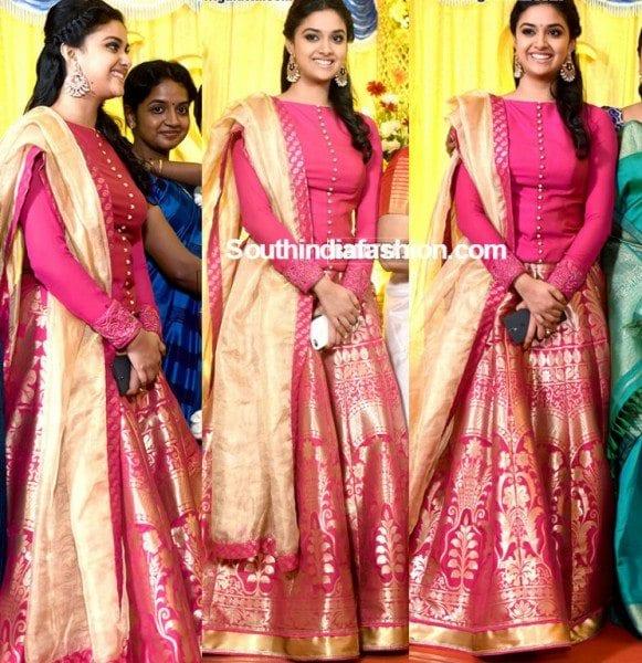 Keerthy Suresh Sister Revathy Sureshs Wedding Reception