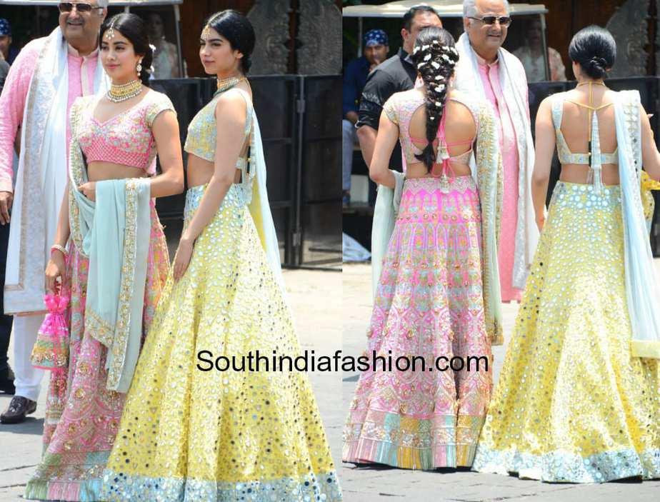 Janhvi And Khushi In Manish Malhotra At Sonam Kapoors