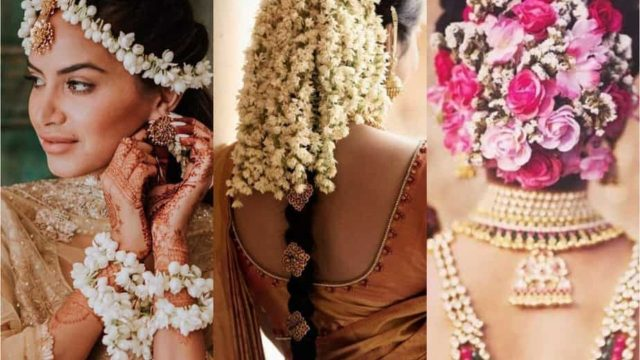 we are swooning over these 10 beautiful gajra wedding