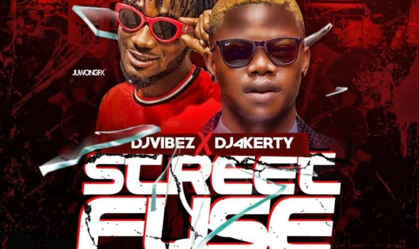 DJ Vibez x Dj 4kerty Street Fuse Mix Tape-art