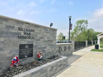 The Bellmawr War Memorial on Creek Road